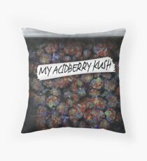 Weed acidberry kush Weed Purple Haze Cannabis design Floral hemp marijuana Throw Pillow