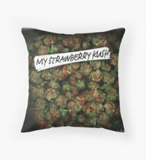 WEED BAG strawberry kush Throw Pillow