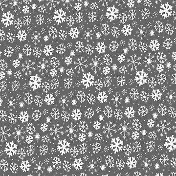 Snowflake Snowstorm With Silver Grey Gray Background by taiche