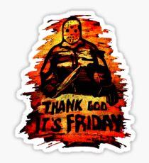 Thank god its friday (13th) - Men Women Sticker