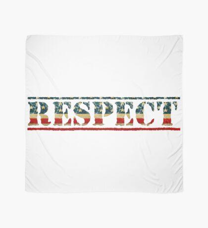 Patriotic RESPECT Text Scarf