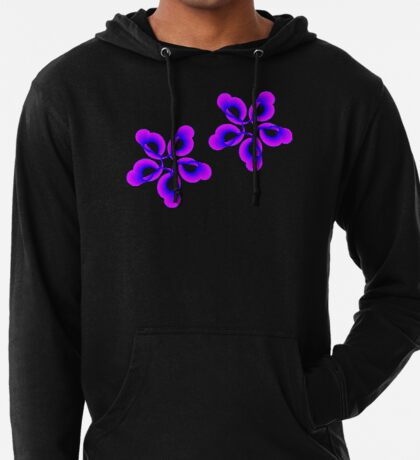 Spiral Pink Blue Abstract Flowers Lightweight Hoodie