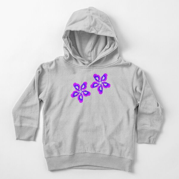 Spiral Pink Blue Abstract Flowers Toddler Pullover Hoodie