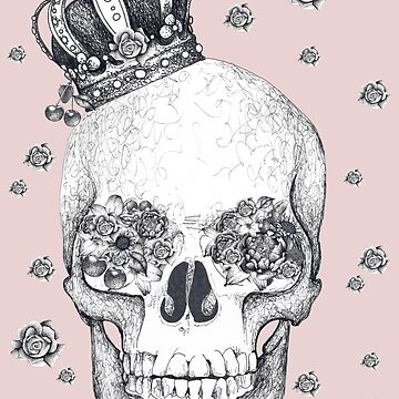 Skull with crown and flowers by Surrealist1