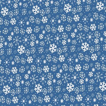 Snowflake Snowstorm With Sky Blue Background by taiche