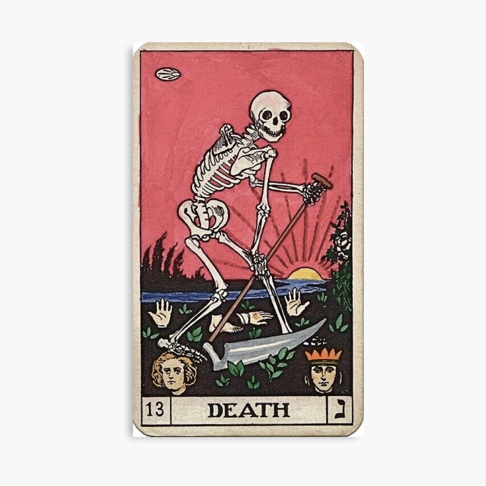 Tarot de muerte Lienzo