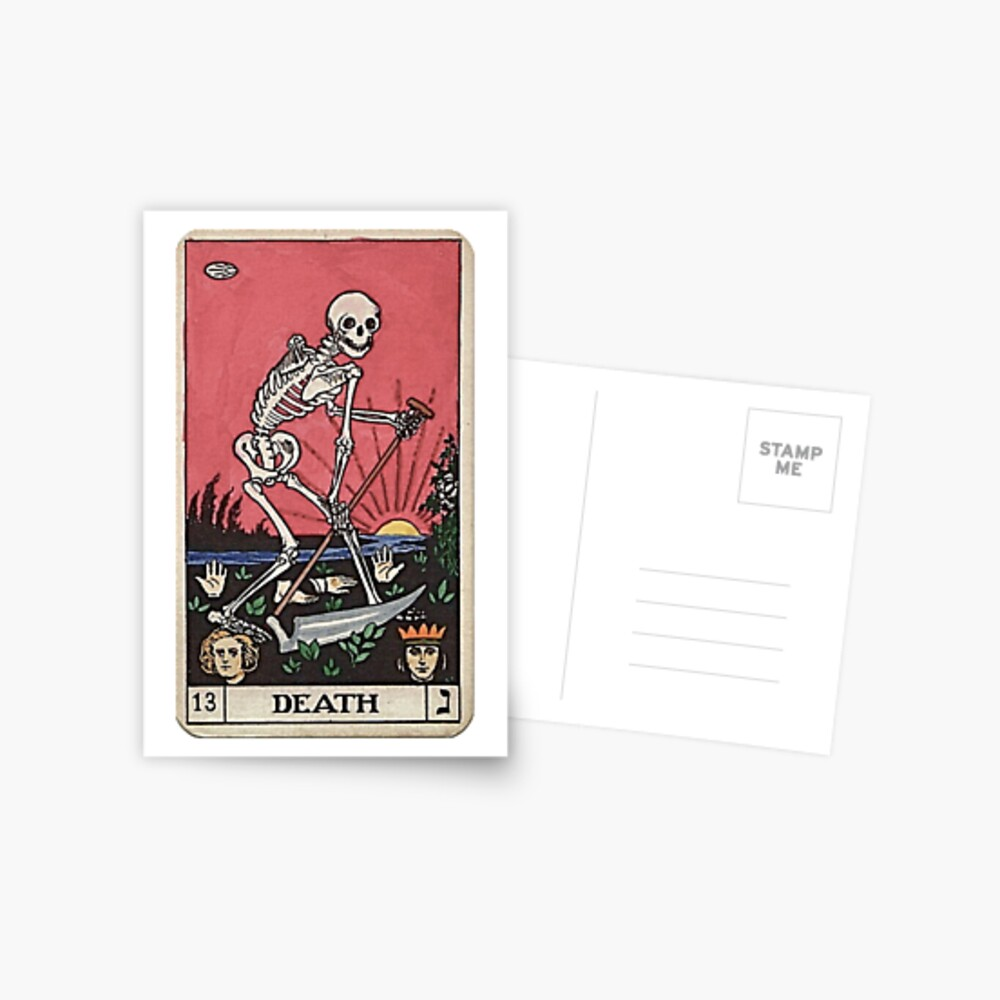 Tarot de muerte Postal