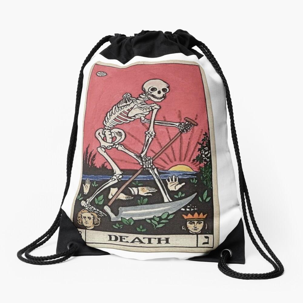 Death Tarot Drawstring Bag