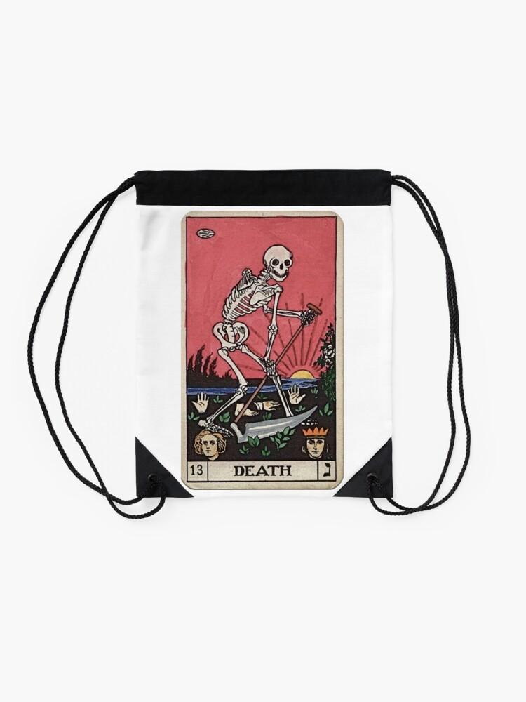 Alternate view of Death Tarot Drawstring Bag