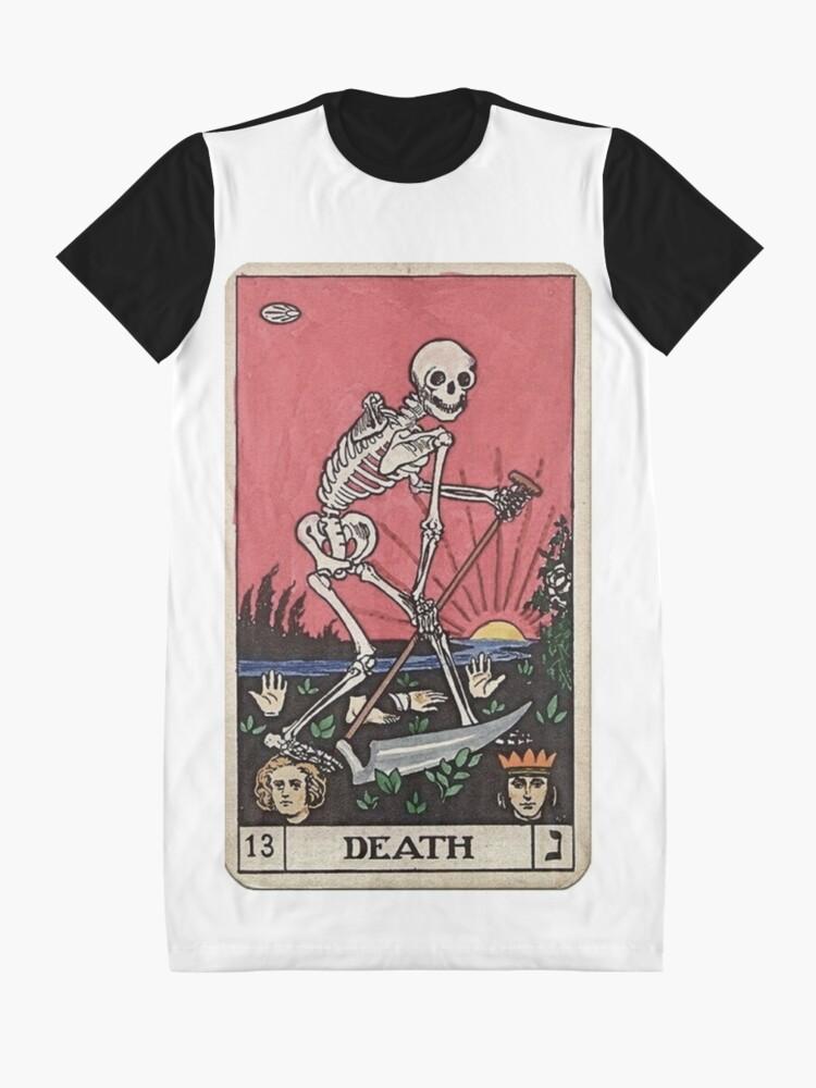 Alternate view of Death Tarot Graphic T-Shirt Dress