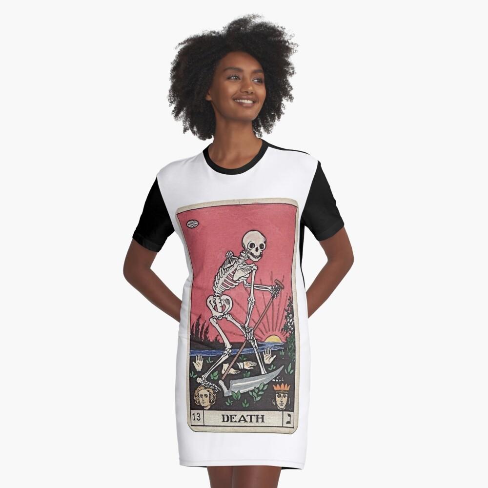 Death Tarot Graphic T-Shirt Dress