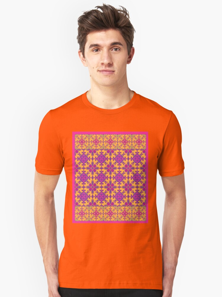 Alternate view of azulejo print - fuschia Slim Fit T-Shirt