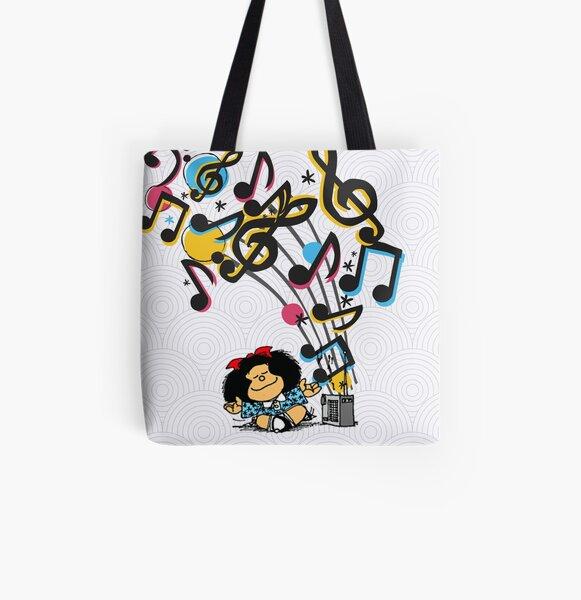 Mafalda musica vintage Bolsa estampada de tela