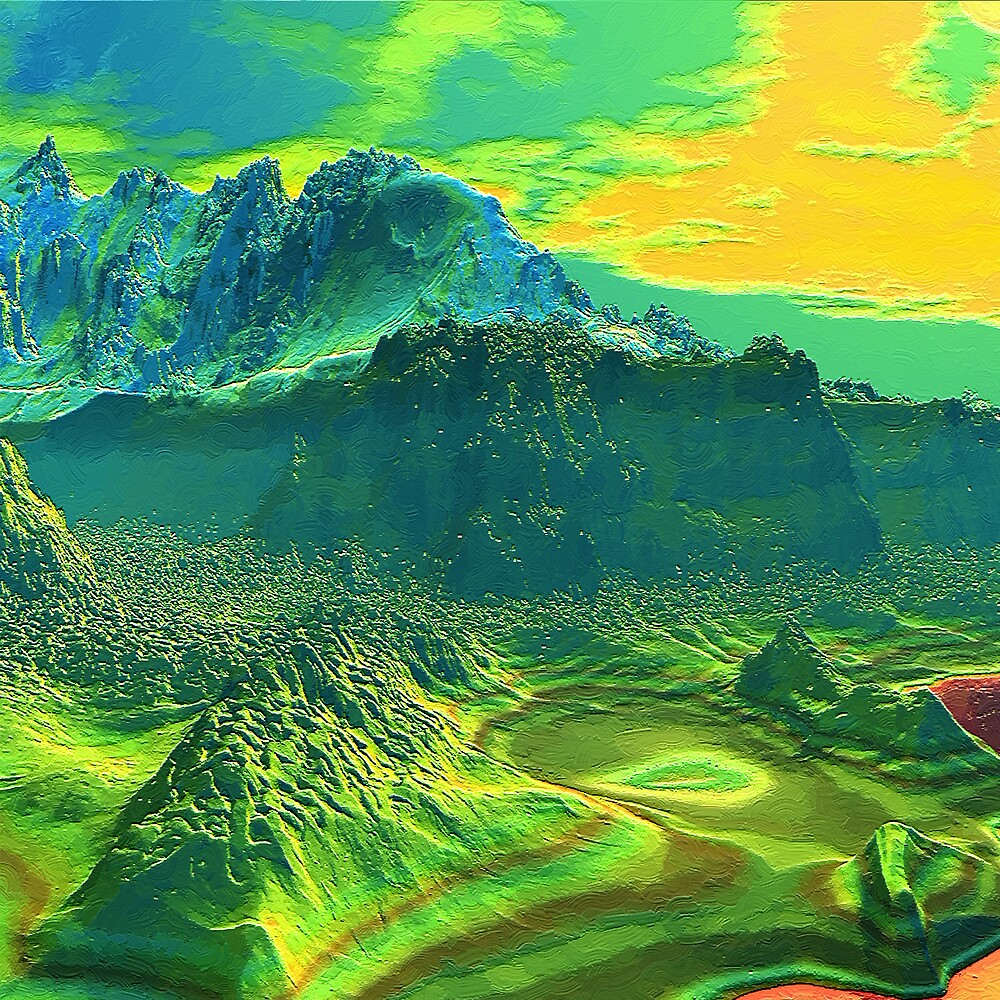 Canyon Mid Morning 2000 by Hugh Fathers