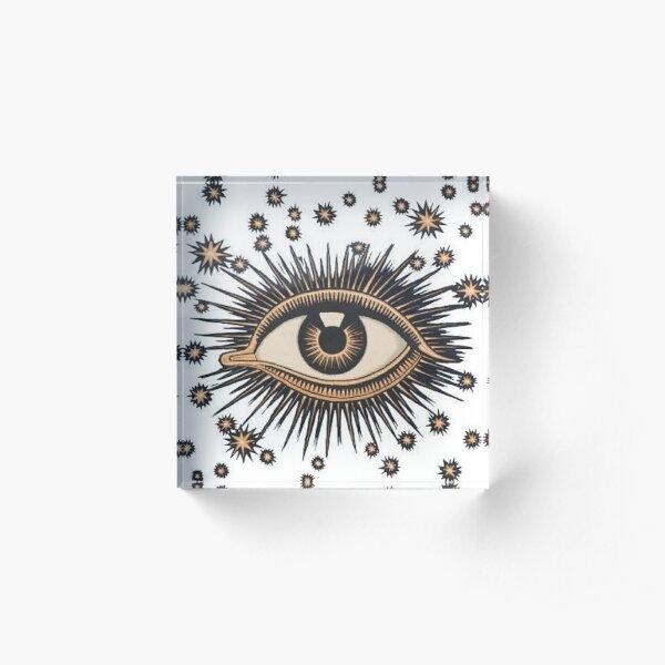 Vintage Eye Acrylic Block