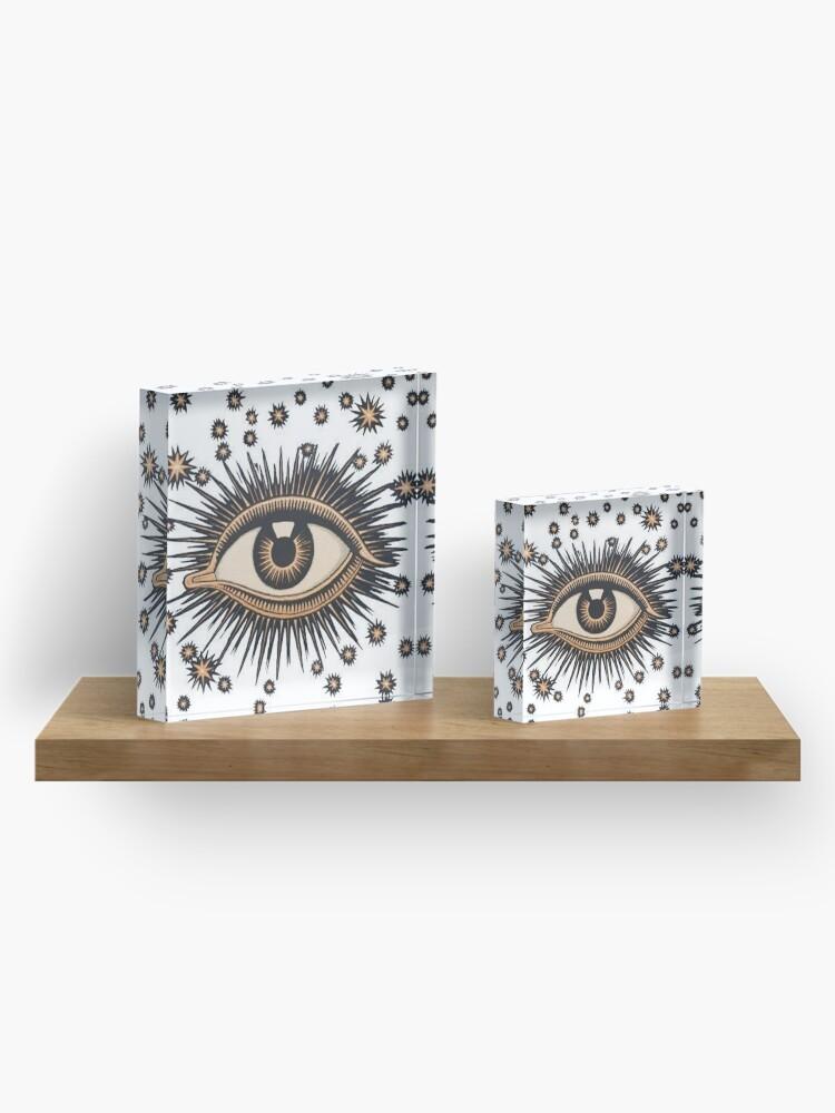 Alternate view of Vintage Eye Acrylic Block