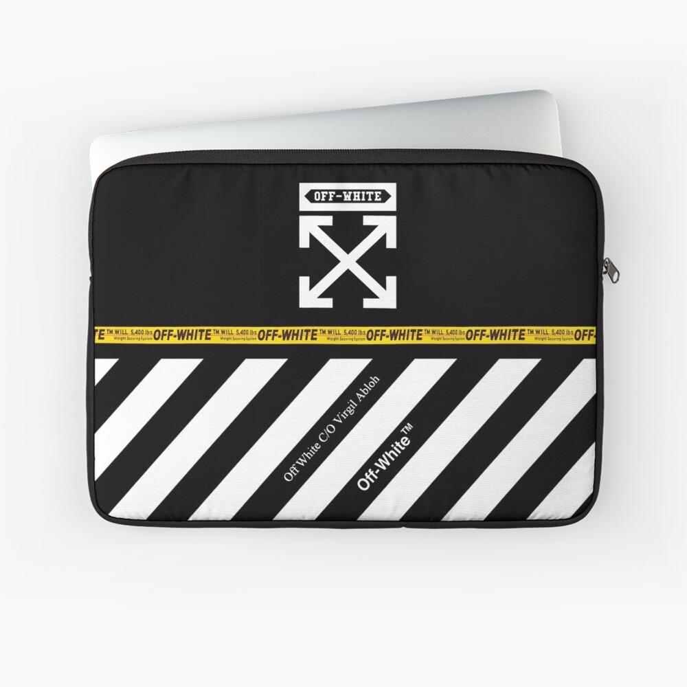 Off White Cover volle weiße Streifen Laptoptasche