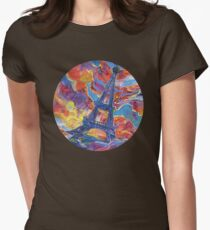 Eiffel's tower painting - 2014 Womens Fitted T-Shirt
