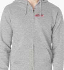 Kleines Netflix-Logo Hoodie mit Reißverschluss