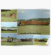 WRECKS ON THE RIVER WYRE  Poster