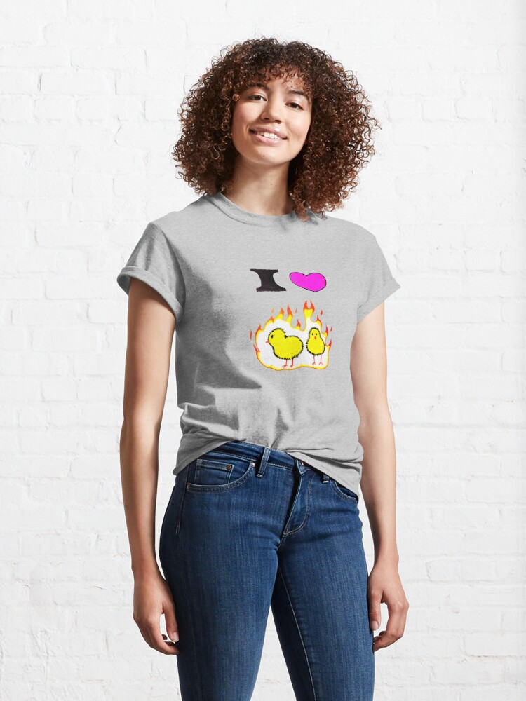 Alternate view of Who loves hot chicks? Classic T-Shirt