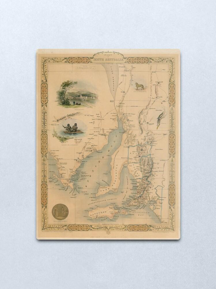 Alternate view of Part of South Australia, 1851 Metal Print
