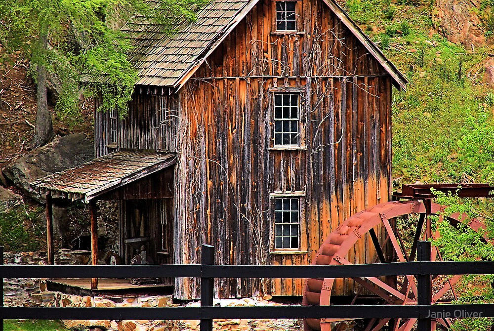 Sixies Mill Closeup by Janie Oliver
