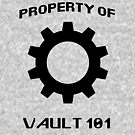 Property of Vault 101 by raineofiris