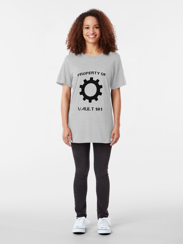 Alternate view of Property of Vault 101 Slim Fit T-Shirt