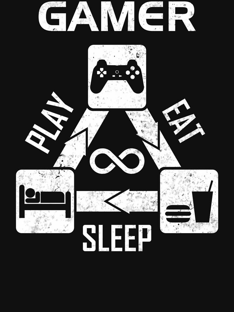 Gamer - Eating Sleeping Play by DG-RA