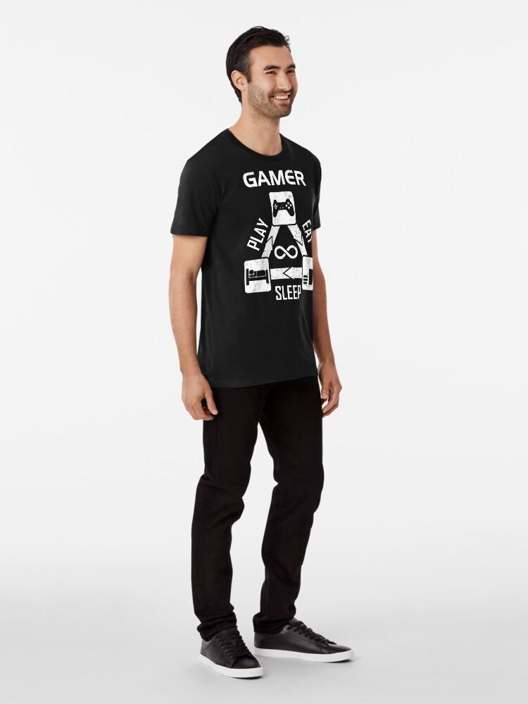 Alternate view of Gamer - Eating Sleeping Play Premium T-Shirt