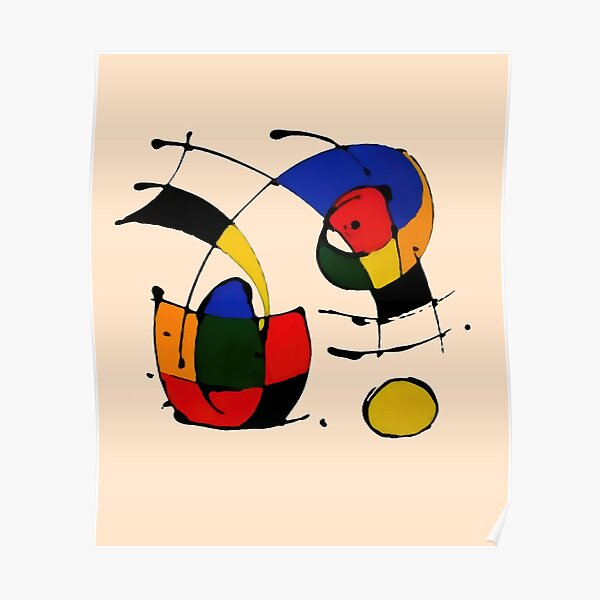 In The Style of Joan Miro Poster