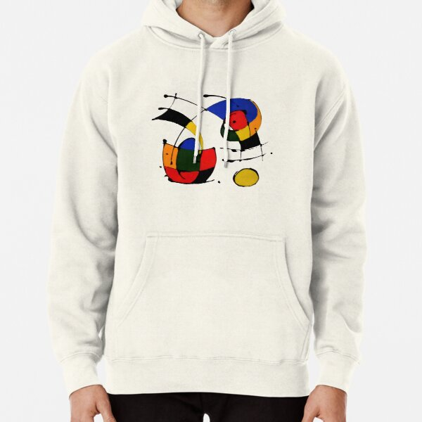 In The Style of Joan Miro Pullover Hoodie