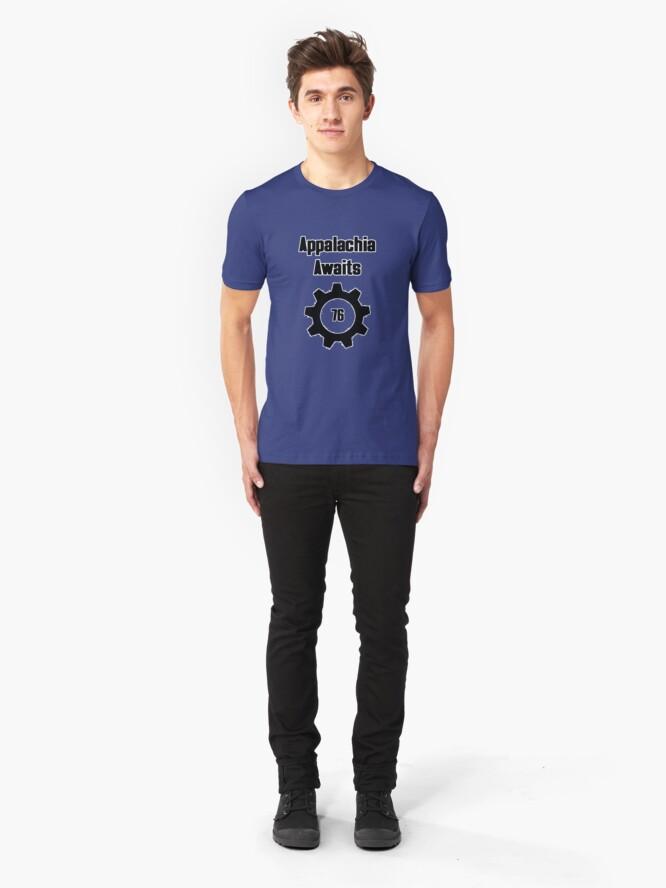 Alternate view of Appalachia Awaits - Vault 76 Slim Fit T-Shirt