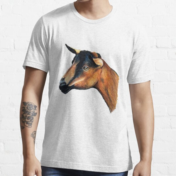 Oberhasli Goat Head T-Shirt Essential T-Shirt