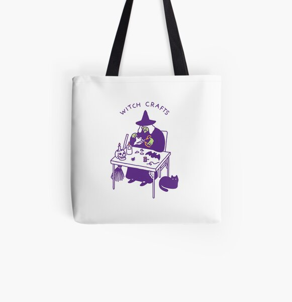 Witch Crafts All Over Print Tote Bag