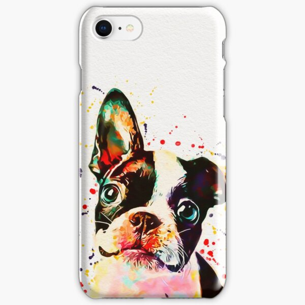 Boston Terrier Watercolor iPhone Snap Case