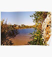 Framed river Poster