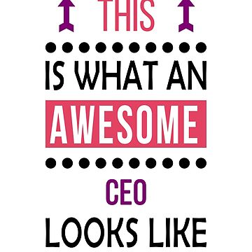 CEO Awesome Looks Birthday Christmas Funny  by smily-tees