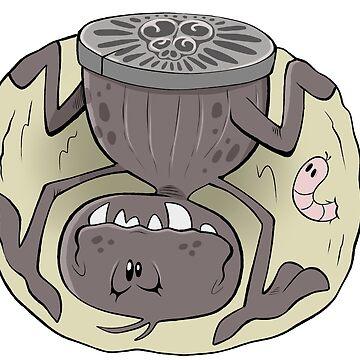 Trapdoor Spider by bogleech