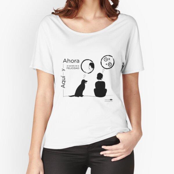 Aquí y Ahora (el secreto de la FELICIDAD) - SILUETA Camiseta ancha