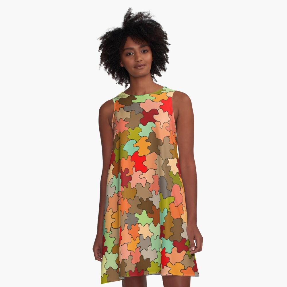 Autumnal A-Line Dress Front