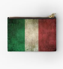 Old and Worn Distressed Vintage Flag of Italy Zipper Pouch