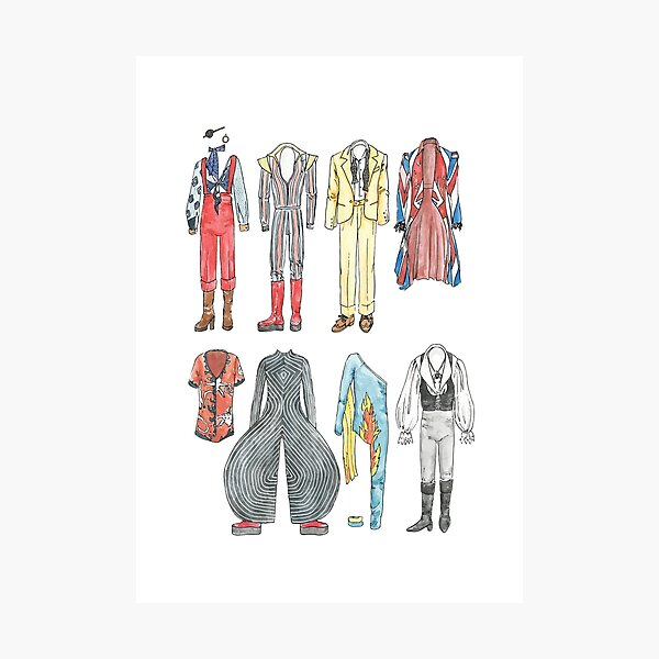 BOWIE COSTUMES Photographic Print