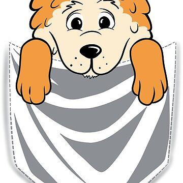 Pomeranian Cartoon Pocket Graphic by ilovepaws