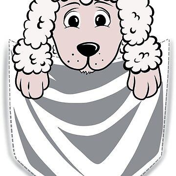 Poodle Cartoon Pocket Graphic by ilovepaws