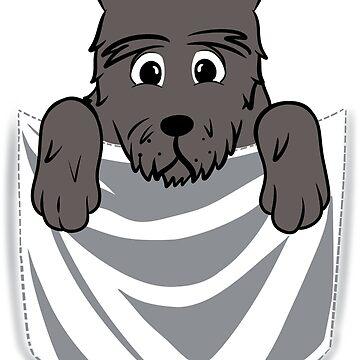 Scottish Terrier Cartoon Pocket Graphic by ilovepaws