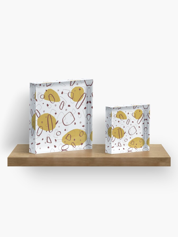 Alternate view of Doodle Pattern 02 #redbubble #doodle #pattern Acrylic Block