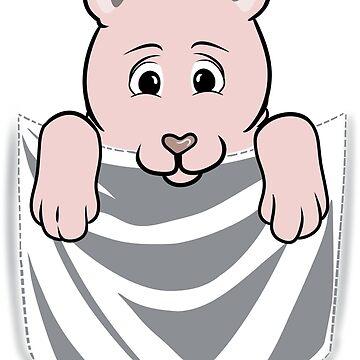 Sphynx Cat Cartoon Pocket Graphic by ilovepaws