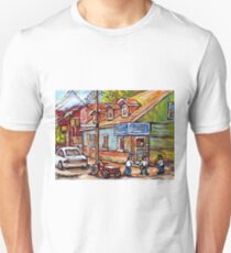 MONTREAL PAINTINGS FOR SALE DEPANNEURS OF MONTREAL BASEBALL SCENE T-Shirt